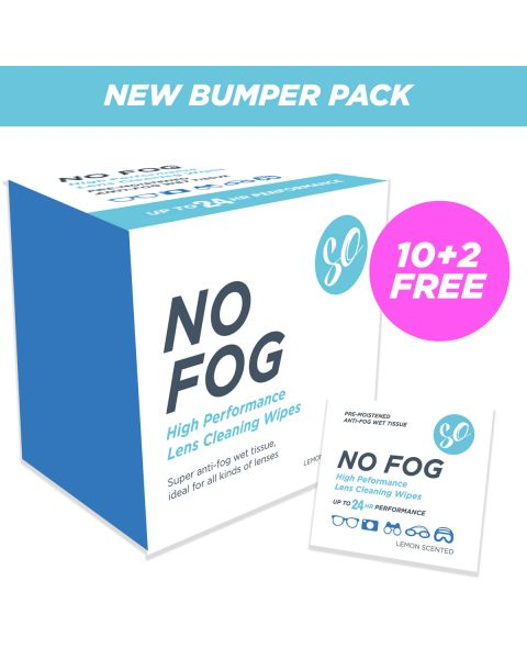 SO No Fog Wipes - Box of 100 RRP £12.99  PRE-ORDER 4 END NOV