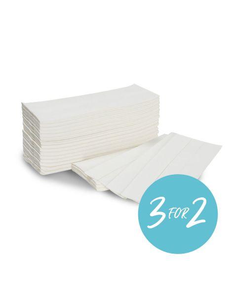 C-Fold Hand Towels White 22 x 33 cm 2 ply (box of 2400 pcs)