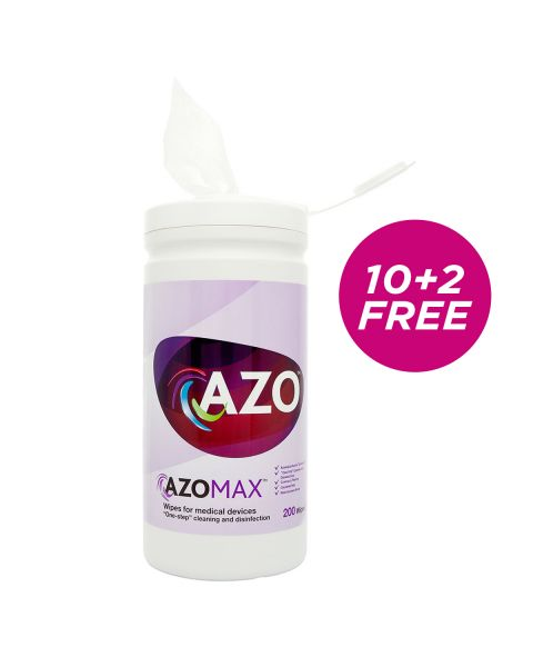 Azo Max Wipes - tub of 200 (Hard Surface) 10+2 FREE DEAL