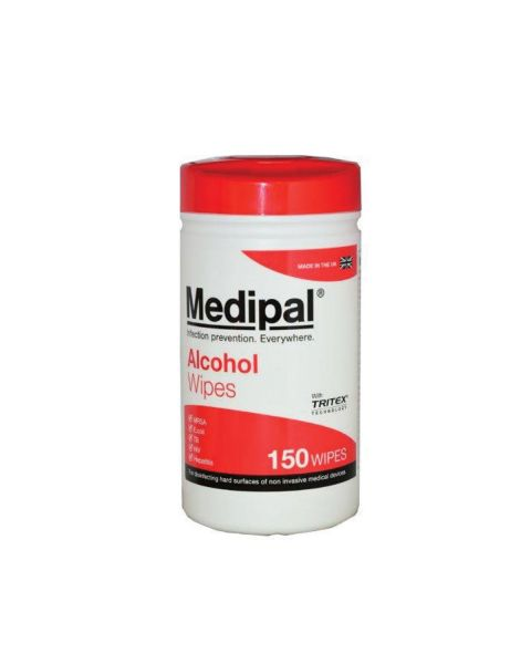 MediPal Healthcare Wipes - tub of 150   PRE ORDER NOW
