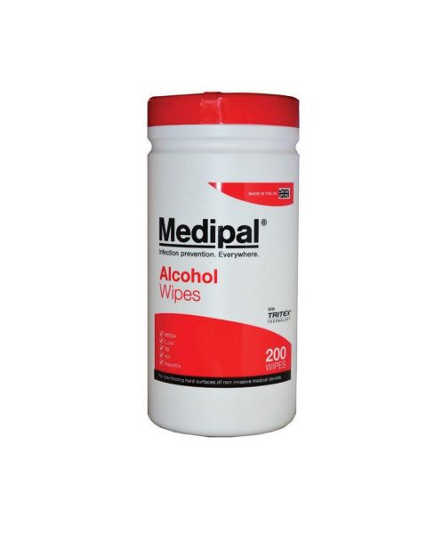 MediPal Healthcare Wipes - tub of 200   IN STOCK