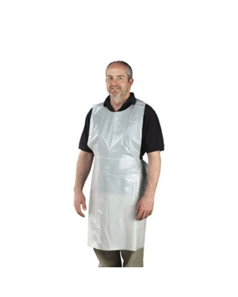 Disposable Apron White Standard 16 Micron (125 Pack)