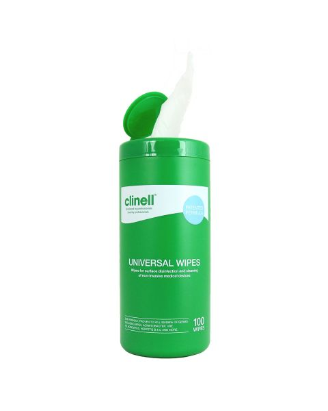 Clinell Universal Wipes Tub 100  PRE ORDER NOW