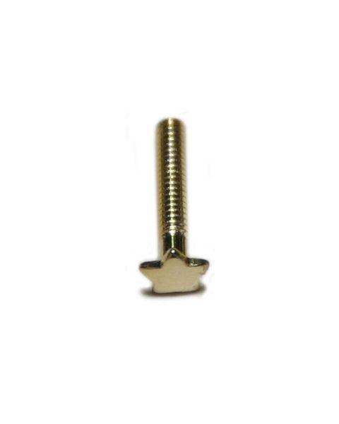 5 Point Star Head Bolts L8.5mm X D1.4mm Gold 25 pcs