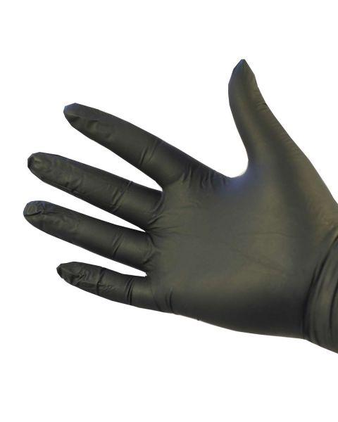 Nitrile Gloves Powder Free Black Large 100 Per
