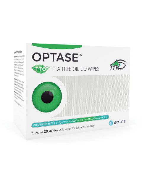 Optase TTO Lid Wipes (20 Wipes) RRP £9.95