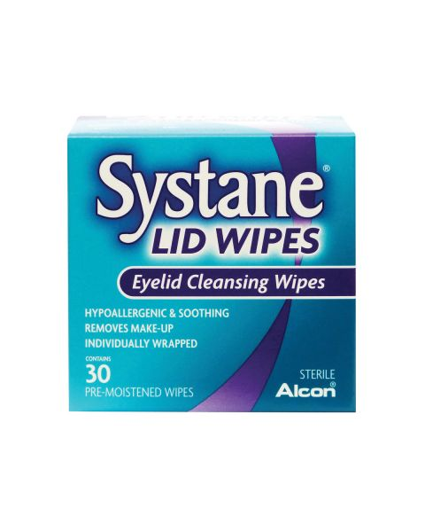 Systane Lid Wipes 30 Per Box RRP £9.99