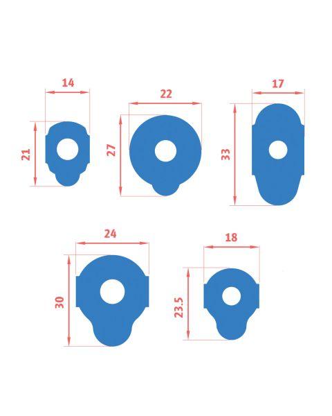 Bondeye Blue Mid-Range Blocking Pads