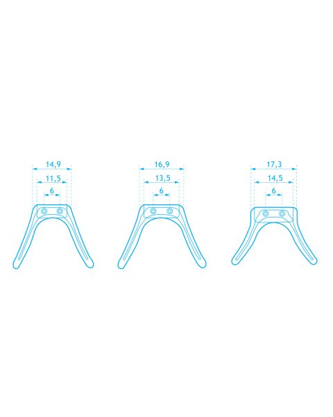 Silicone Strap Bridge Vertical Pin 16 x 40 mm 1 pc