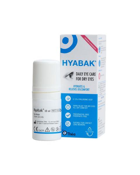 Hyabak 10ml Dry Eye Drops RRP £10.50