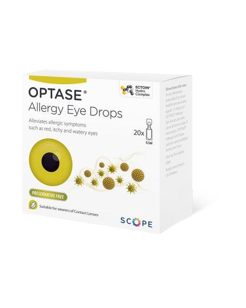 Optase Allergy Eye Drops 20 x 0.5ml RRP £12.95