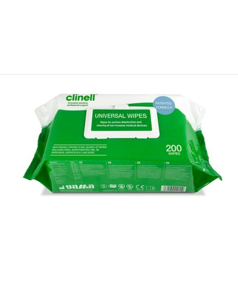 Clinell Universal Wipes 200 Pack  PRE-ORDER OR BUY 100 PACKS