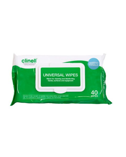 Clinell Universal Wipes 40 Pack   PRE ORDER NOW