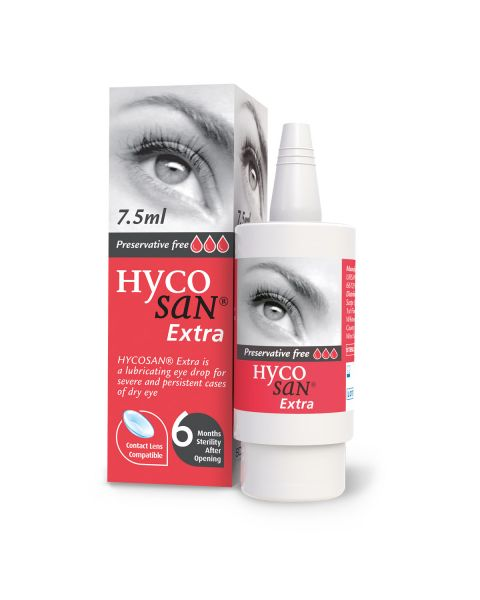Hycosan Extra RED Dry Eye Drops 7.5ml Bottle. RRP £11.50