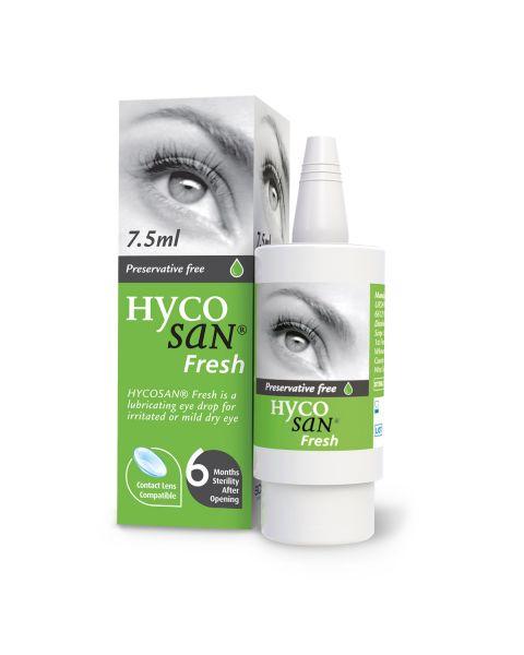 Hycosan Fresh Dry Eye Drops 7.5ml Bottle. RRP £8.99