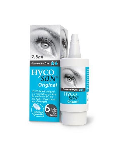 Hycosan BLUE Original  Dry Eye Drops 7.5ml Bottle. RRP £9.99