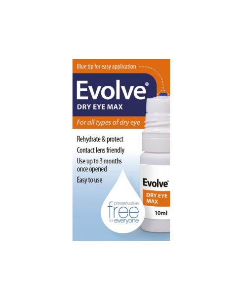 Evolve Dry Eye Max Sodium Hyaluronate 0.2% 10ml RRP £12.99