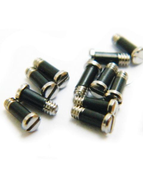1.4 mm Ø Rim Screws with locking sleeves  Nickel 25 pcs