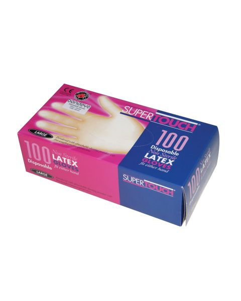 Latex Powdered Gloves - Medium (100 per box)