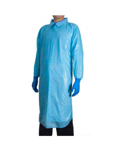 Blue Antimicrobial Disposable Gowns 25 Pack