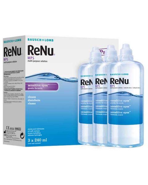 Renu Multi Purpose Solution 3 Pack 240ml RRP £22.00