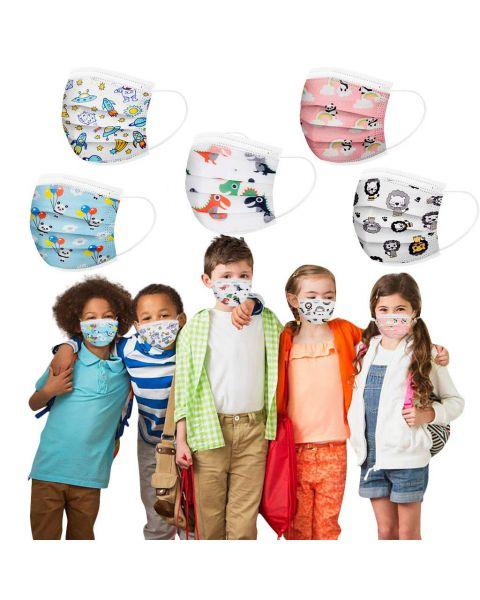 Kids Community 3 Ply Face Masks 50pcs 5 Designs