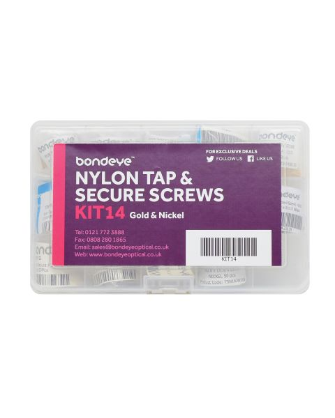 Nylon Tap & Secure Mixed Gold/Nickel Kit 14 pks