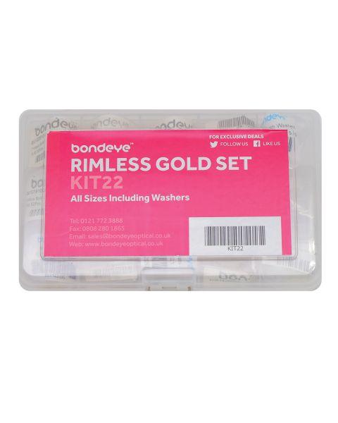 Full Rimless Gold & Plastic Kit in dia 1.2, - 1.4 15 pks