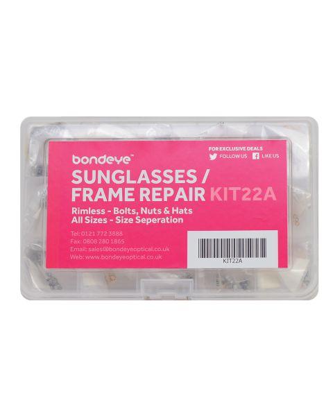 Sunglass/Frame Repair in dia 1.2 - 1.6 Gold/Nick Kit 30 pks