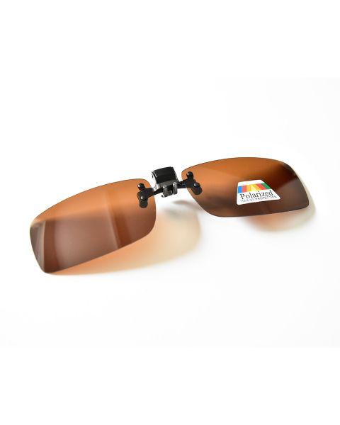 Clip On Sunglasses Polarised 55 19 Brown (9)