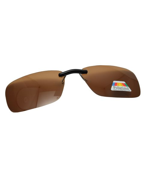 Clip On Sunglasses Polarised 57 19 Brown (5)