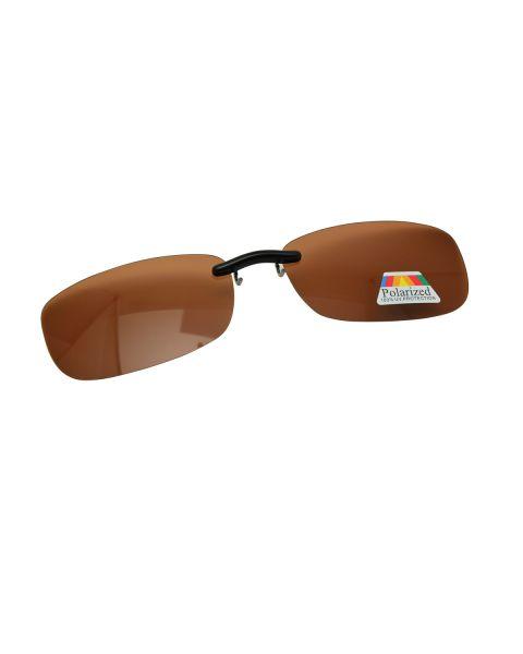 Clip On Sunglasses Polarised 59 16 Brown (1)