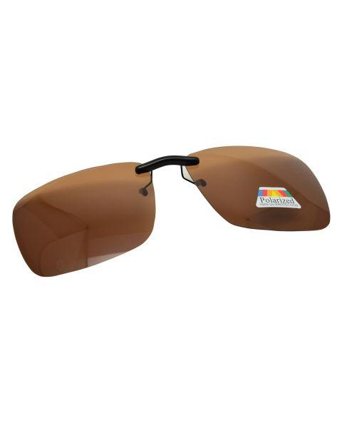 Clip On Sunglasses Polarised 59 16 Brown (4)