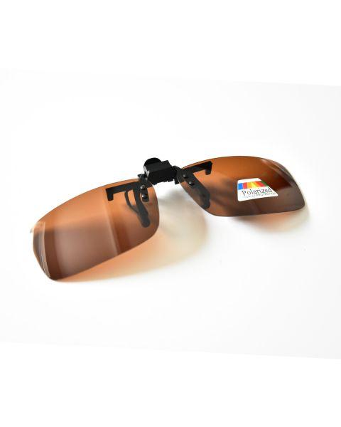 Clip On Sunglasses Polarised 60 14 Brown (7)