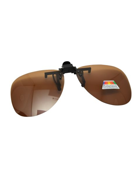 Clip On Sunglasses Polarised 62 22 Brown (8)