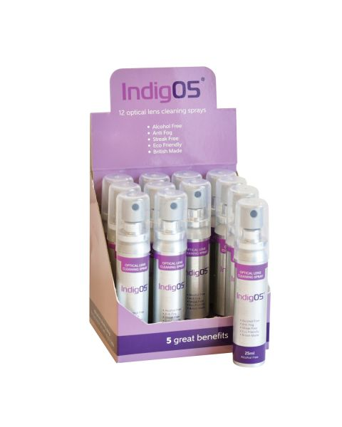 Indig05 12pc 25ml Lens Cleaner Set  RRP £36