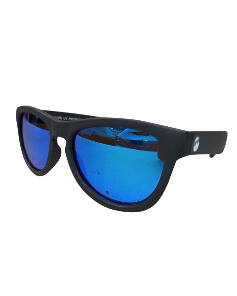 Minishades Ages 8-12 Galaxy Black/Blue Mirror