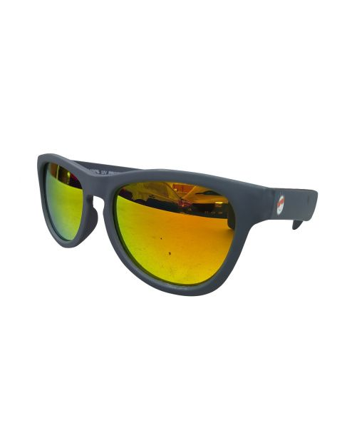 Minishades Ages 8-12 Battleship Grey/Orange Mirror