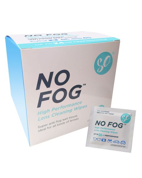 SO No Fog Wipes-Box of 100 RRP £12.99   BUMPER (10 pk)