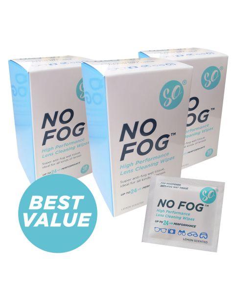 SO No Fog Anti Fog Wipes - Box of 30 (50 Boxes)   BULK BUY
