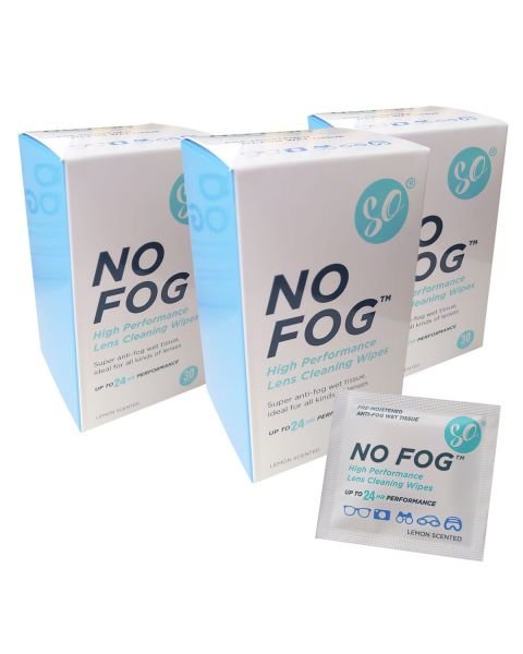 SO No Fog Anti Fog Wipes - Box of 30 (50 Boxes)   BULK BUY