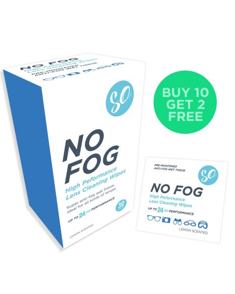 NO FOG Wipes - Box of 30 - NEW STOCK ARRIVING 23RD AUGUST
