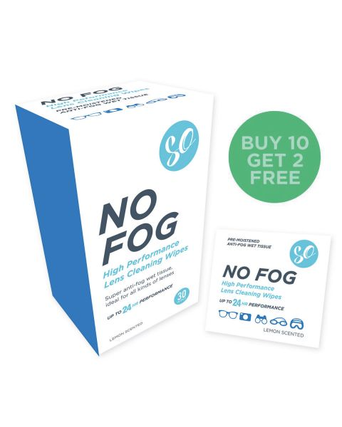 SO No Fog Wipes - Box of 30 RRP £6.49  IN STOCK