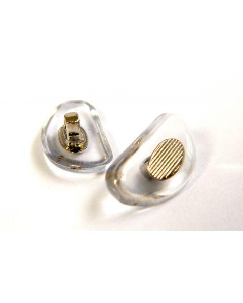 Semi Soft D Shape 17mm Push Fit Nickel Insert 10Prs