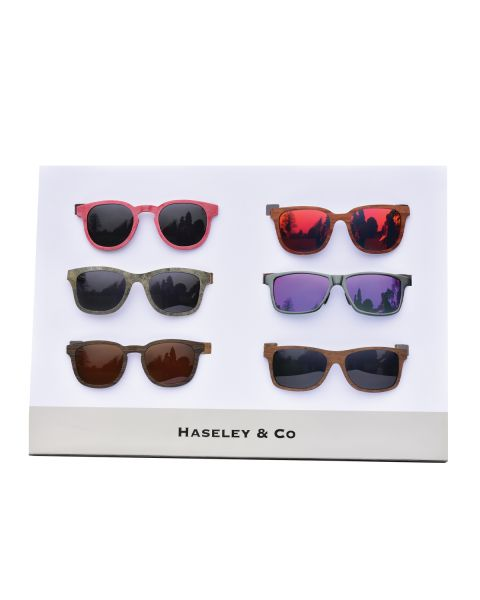 Haseley & Co Sunglass 6pc Display Stand