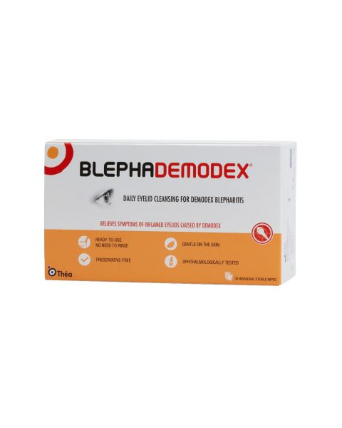 Blephademodex Eye Lid Cleansing Wipes (30 Wipes) RRP £19.99
