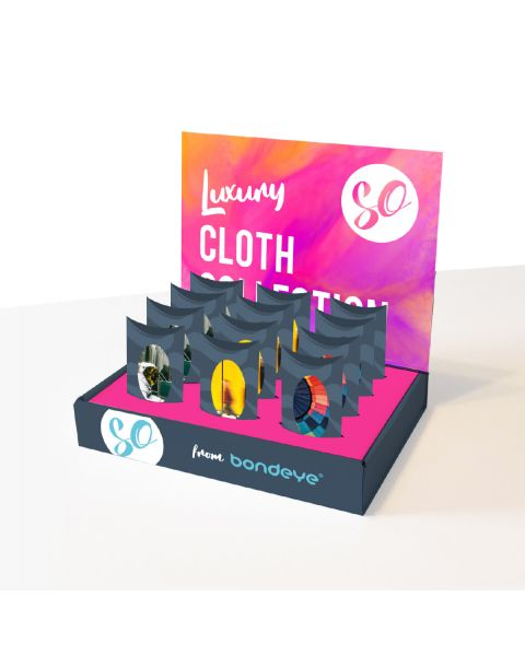 Luxury Cloth Collection 12pcs POS stand  RRP £47.88