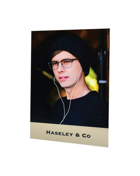 Haseley & Co A4 Showcard Male