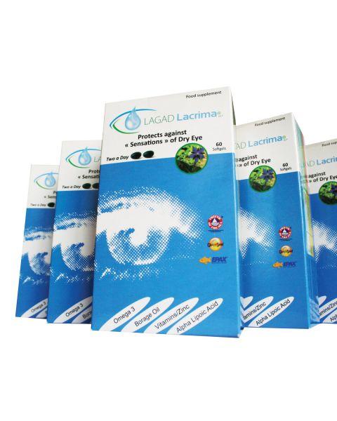 Lagad Lacrima Dry Eye Supplements-Bulk containing 60 Units