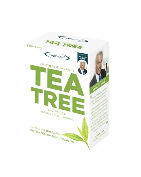 Eye Doctor Tea Tree Lid Wipes 20 Pack RRP £8.99
